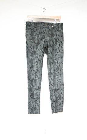 H&M spodnie rurki szare wężowe 42 XL