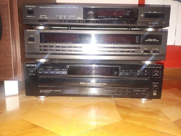 Sprzedam!wieża/tuner Technics ST-G470,zmieniarkę SONY 5 CD,Equalizer