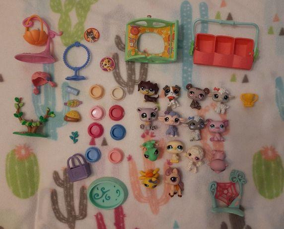 LPS Littlest Pet Shop Zestaw 14 figurek + akcesoria
