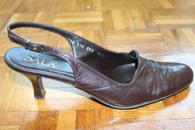FIRMOWE SALA CZÓŁENKA ze skóry / skórzane buty damskie brąz rozmia 37