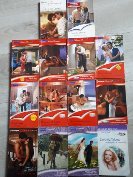 Ksiazki romanse pakiet 14 książek
