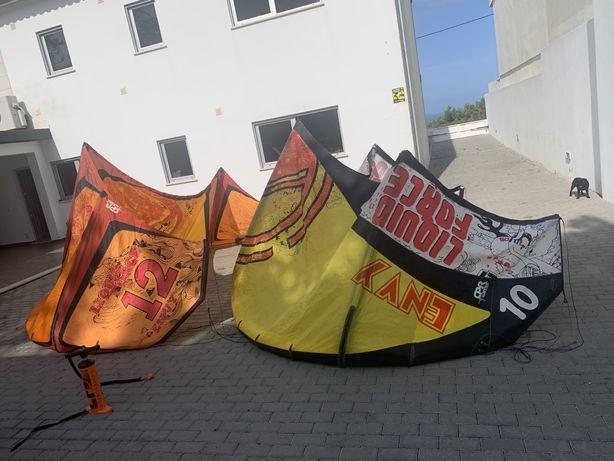 2 kitesurfing (asas) c/ barras