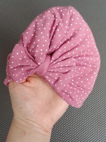 Czapeczka turbanik dla niemowlaka
