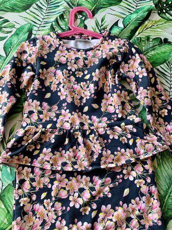 Sukienka name it zara reserved 4- 5 lat kwiatki