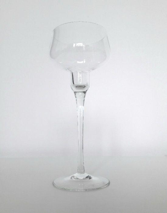 Danish modern design | minimalistyczny szklany świecznik kielich Poznań - image 1