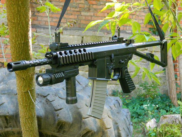 Игрушечный карабин HK417 на шариках ТОП модель со складным прикладом