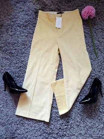 ZARA sztruksowe spodnie kuloty S