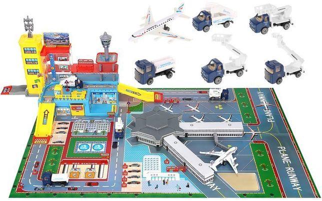 Duże Lotnisko dla Dzieci Samolot + Samochody Baza