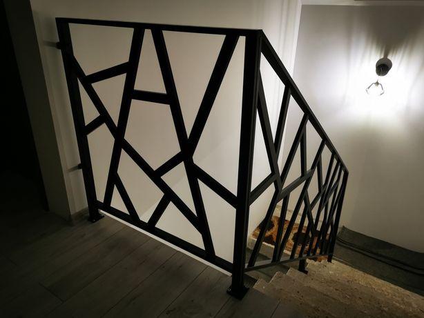 Barierki balkonowe schodowe spawanie estetyczne malowane proszkowo