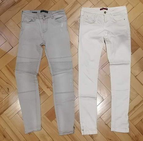 Spodnie damskie Bershka szare rozmiar.36,ecru roz.34