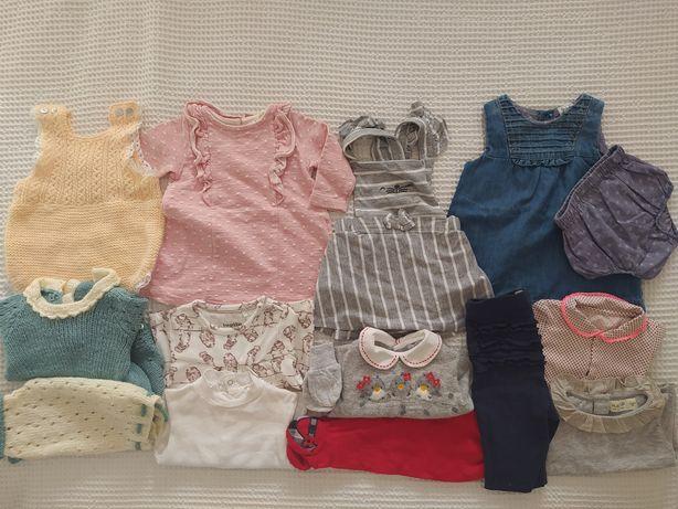 Conjunto/ lote de roupa bebé menina 1/3 várias marcas como nova.