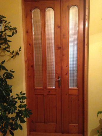 Двері дерев'яні півторачка