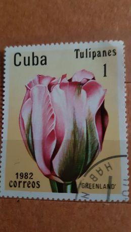Znaczki pocztowe kwiaty.
