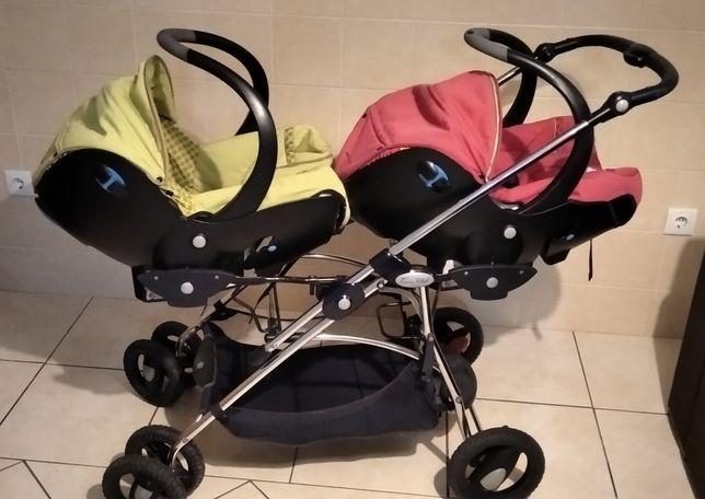 Carro bebe gêmeos bebeconfort e banheira