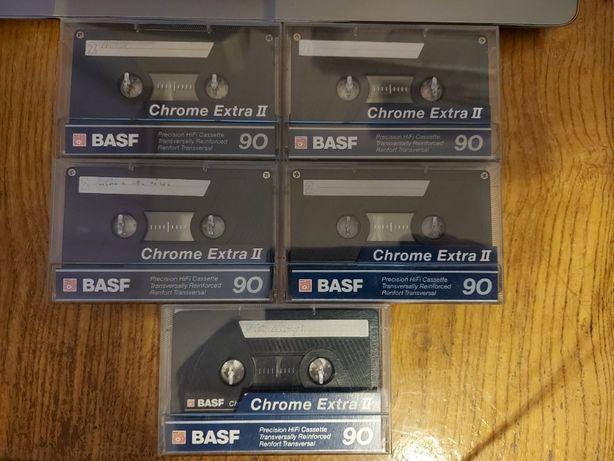 Kasety Basf Chrome Extra II 90, bdb+, 5 szt