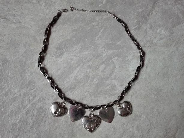 Biżuteria łańcuszek serca całość 5 zł