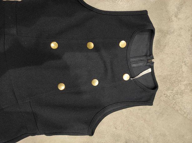 Zara #sukienka z guzikami w kolorze antycznego złota #M #elegancka