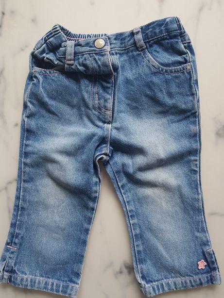 Jeansy spodnie NEXT 80cm
