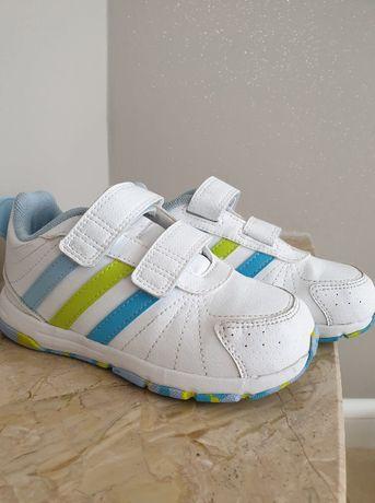 Prześliczne buty firmy ADIDAS, rozmiar 26 - 16,8cm. IDEALNE, białe