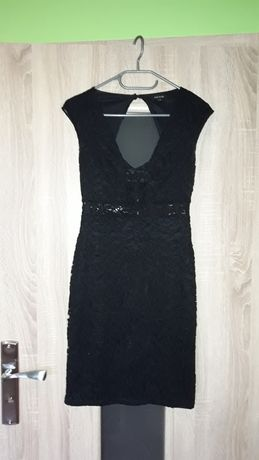 Sukienka rozmiar 40 czarna koronka riwer island