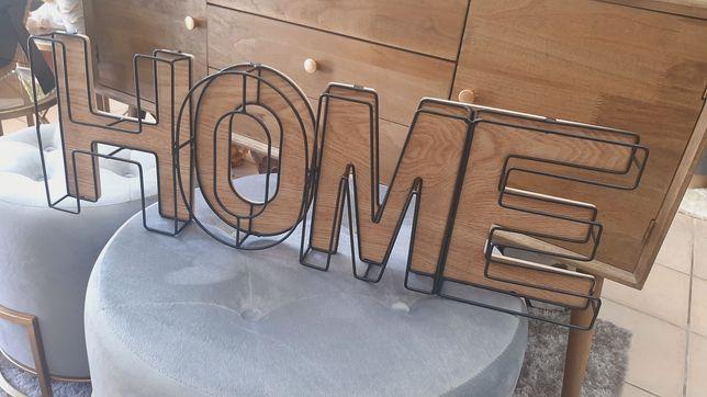 """Decoração / Aplique de Parede """" HOME """" 21x65cm ( Novo)"""