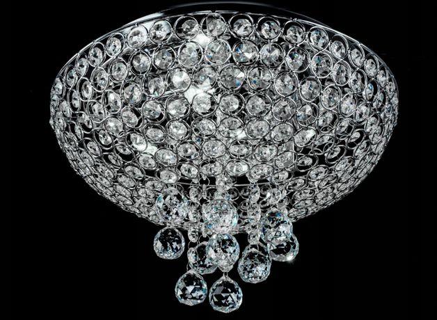 LAMPA sufitowa PLAFON Glamour Kryształowa NOWA