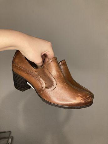 37 Jana buty na obcasie skórzane