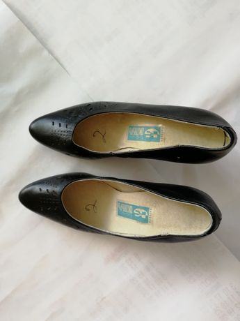 Туфлі жіночі натуральна шкіра чорні
