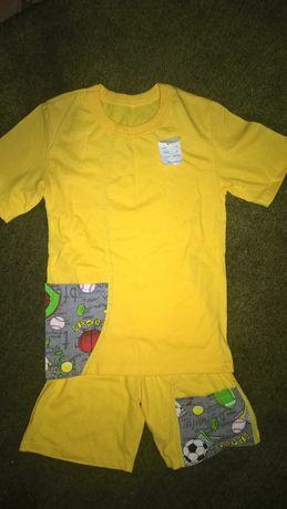 летний трикотажный костюм для мальчика (размер 36)