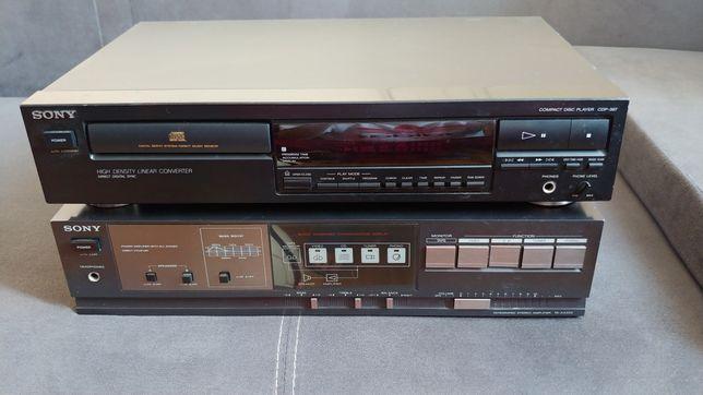Wieża Sony. Wzmacniacz TA-AX205 + CD CDP-397