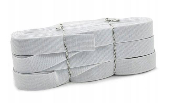 GUMA odzieżowa biała i czarna 15mm nowa tanio