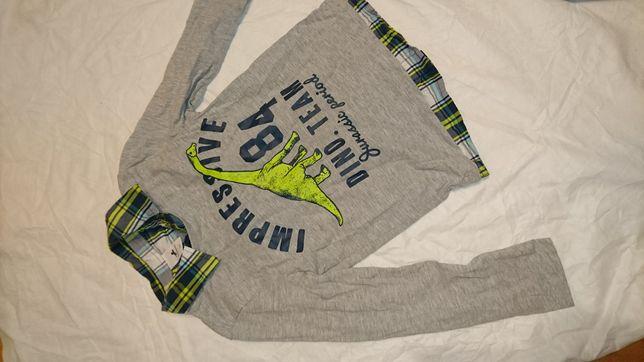 Bluza koszulka z dinozaurem r 134