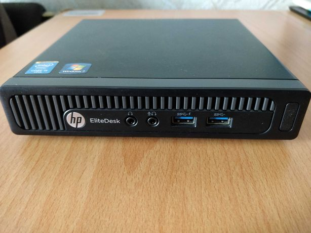Мини ПК HP EliteDesk 800 G1 DM (i5-4590T/8GB DDR3/ssd 120GB/wi-fi 6)