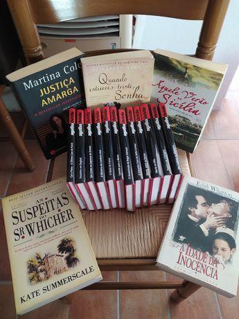 Vários livros usados