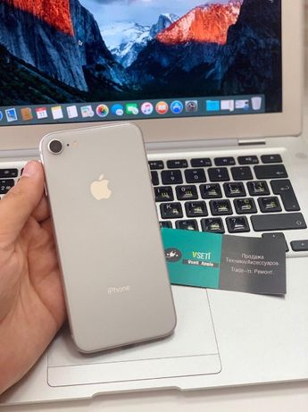 Apple iPhone 8 64Gb Silver\Айфон восемь 64/128гб Silver Гарантия