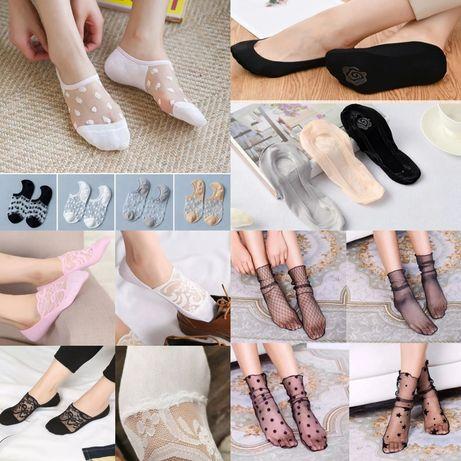 Носки носочки короткие низкие следы пинетки женские 36-40р босоножки