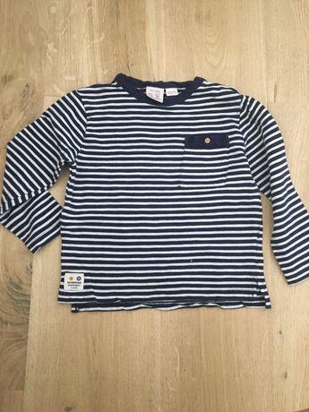 Bluzeczka Zara granat w paski 98