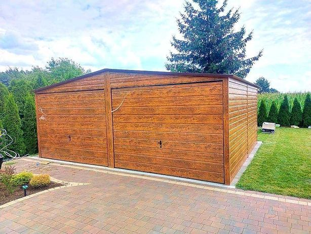 Garaż drewnopodobny 6x5