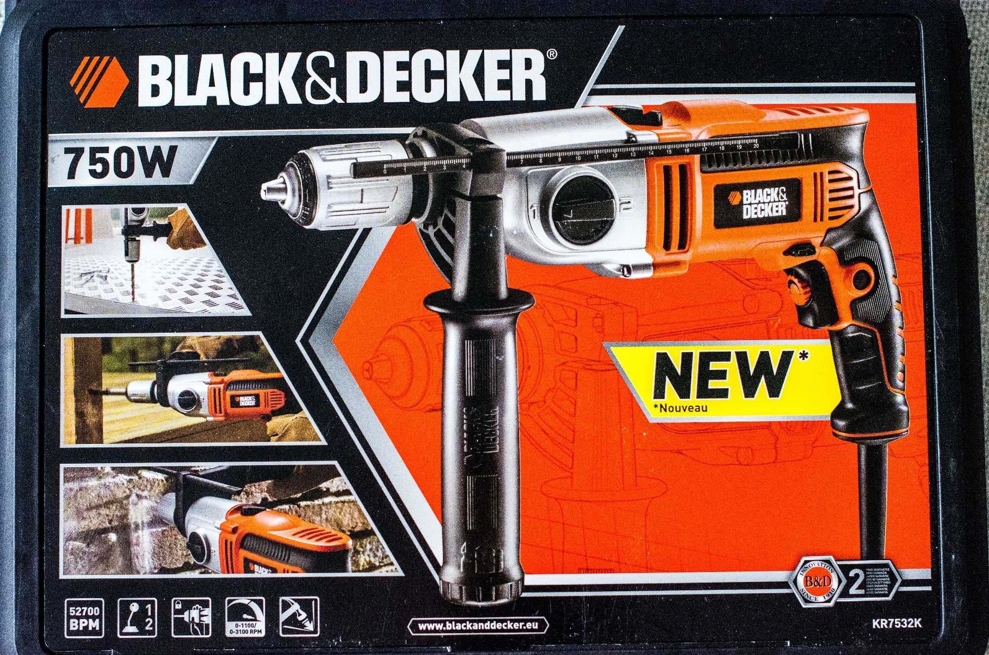 Wiertarka Udarowa Black&Decker 750W KR7532K