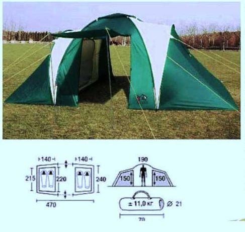 Tenda Campismo com 2 quartos e sala (como nova)