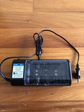 Carregador de pilhas e baterias de vários tamanhos