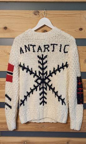 Antarctic by Munk sweter pleciony nowrweski vintage retro zima