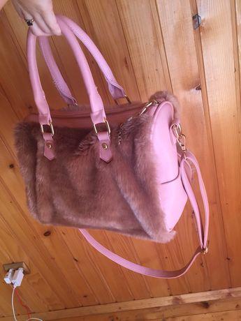 Новая сумка с мехом