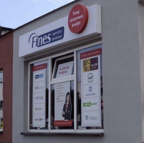 Kaseton reklamowy podświetlany Fines Operator Bankowy