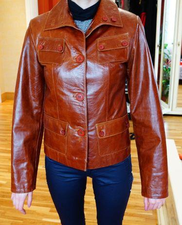 Кожаная женская куртка, новая