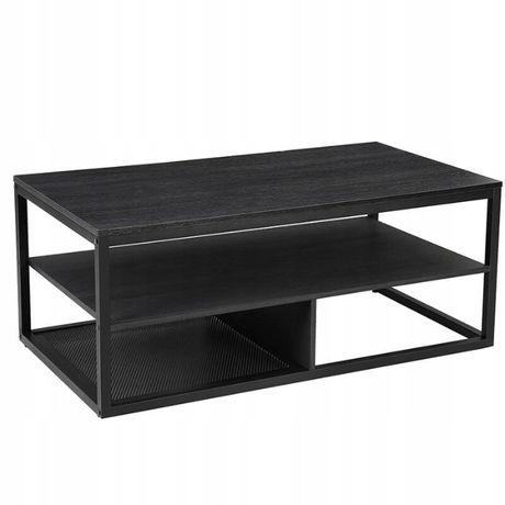 Stół Czarny Nowoczesny Stolik Kawowy Loftowy (LCT501B01)