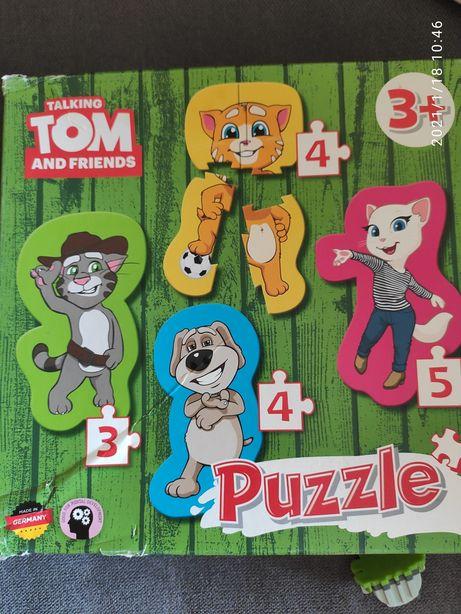 Паззлы для малышей котик Том и его друзья