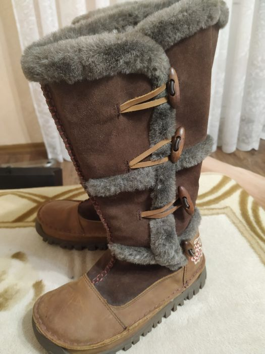 Продам новые натуральные кожаные сапоги на меху Fat Face(37р) Киев - изображение 1