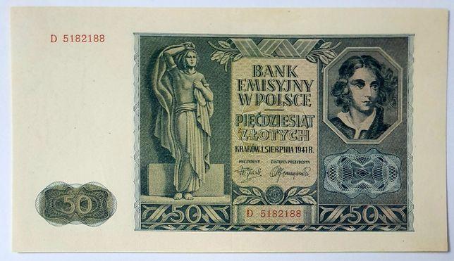 Polska banknot z okupacji 1941r UNC