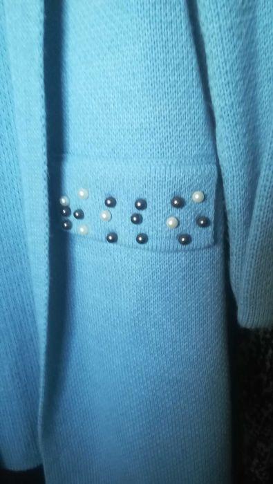 Długi, błękitny sweterek Jurkowice - image 1